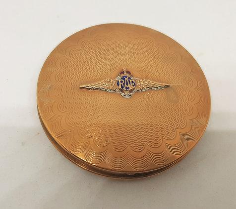 Vintage RAF Sweetheart Goldtone Powder Compact