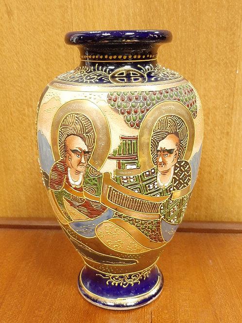 Japanese Hand Painted Satsuma Vase Late Meiji