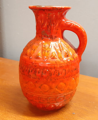 Bay Keramik Jug Vase 93-17 Orange Fire
