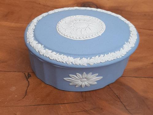 Wedgwood Blue Jasperware Camilla Box