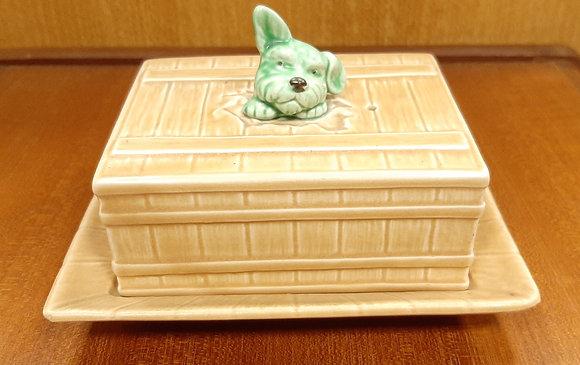 SylvaC Dog Head Butter Dish 1850