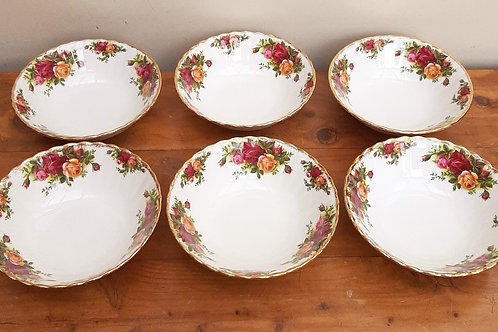 Royal Albert Old Country Roses Set 6 Pudding/Dessert Bowls