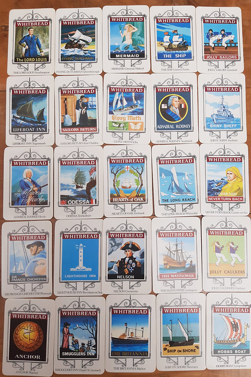 The History of Whitbread Inn Signs Full set 25 Maritime Cards