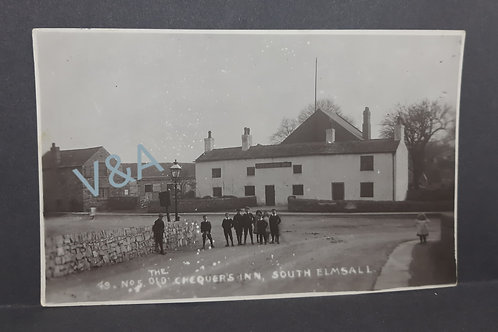 RP Postcard The Old Chequers Inn South Elmsall