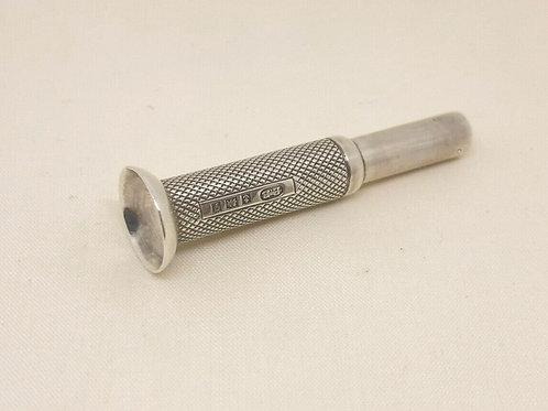 Silver Engine Turned Cigar Piercer Birmingham 1956