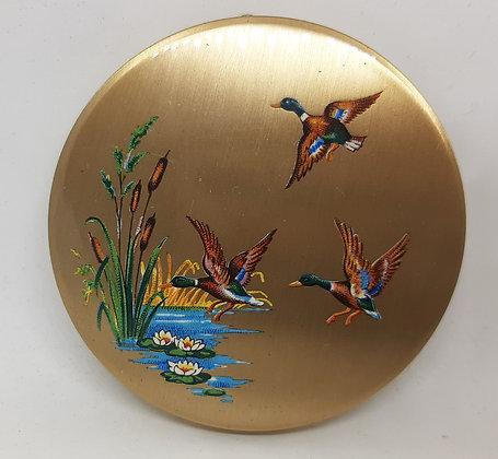 1940s Stratton Scone Flying Mallard Ducks O/H Compact