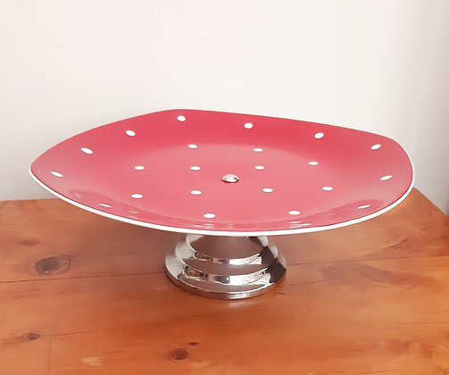 Midwinter Red Domino Cake Stand