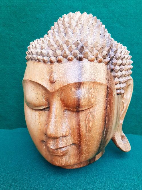 Hand Carved Indonesian Bali Buddha Head