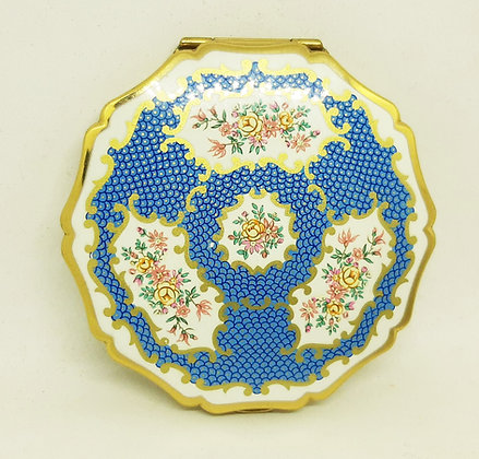 Stratton Queen Convertible Compact Regency Floral Blue Scale