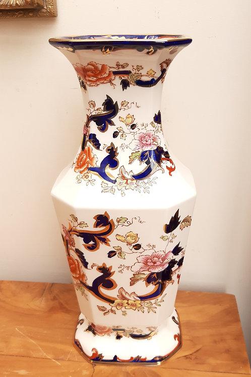 """Large Masons Blue Mandalay Vase 13"""""""