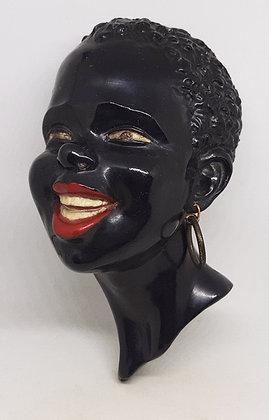 1950s Black Americana Style Chalk Bust