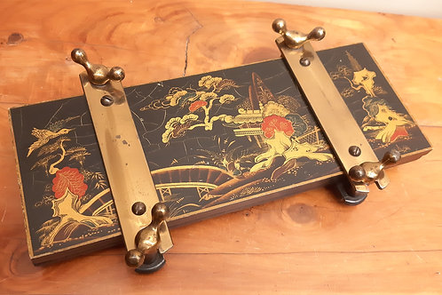 1920s CWS Tie/Flower Press Lacquered Chinoiserie