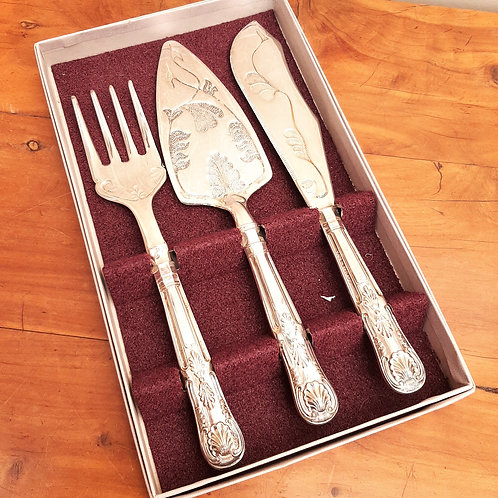 Mayell Silver Plated 3pc Serving Set Kings Pattern