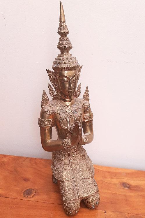 Large Heavy Brass Bali Buddha Goddess