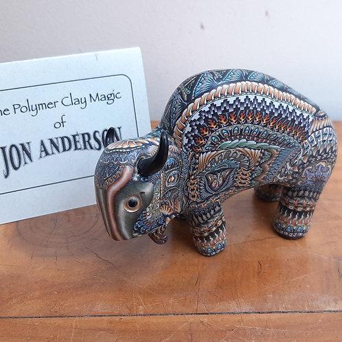 Jon Anderson Fimo Polymer Mama Bison
