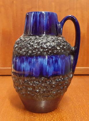 Scheurich 1960s Jug Vase 474-16 Cobalt Lava