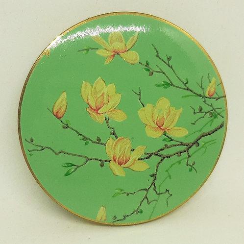 1940s Stratton Scone Magnolia Flowers Green Ground