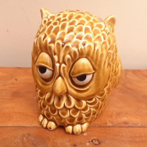 SylvaC 5106 Owl Money Box Painted Eyes