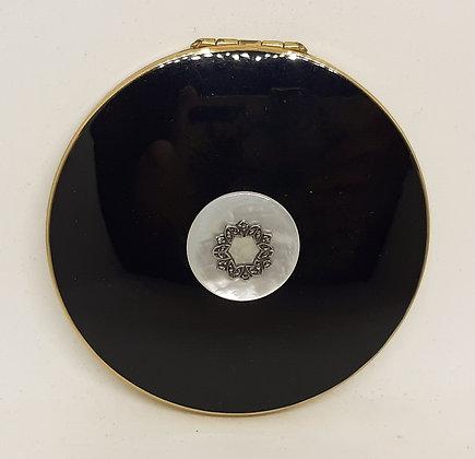 Stratton Convertible Black Enamel Mother Pearl Marcasite Garland