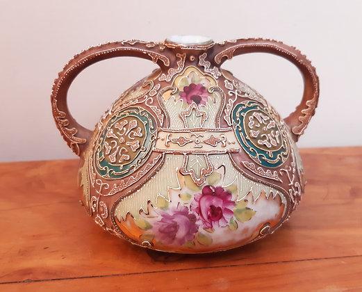 Noritake Nippon Moriage Squat Vase c1900