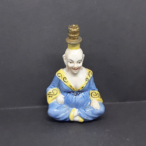 Sitzendorf Happy Buddha Porcelain Crown Top Scent Bottle