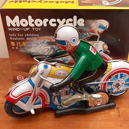 Repro Tin Plate Motorcycle MS-702 Boxed