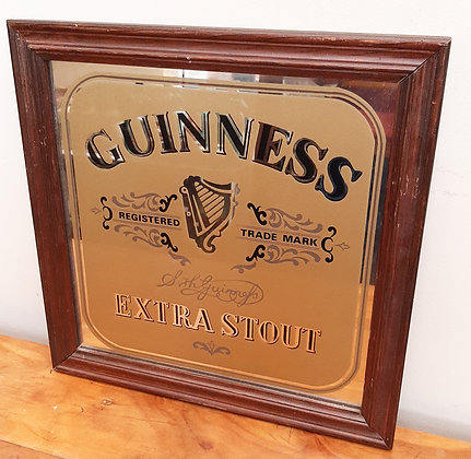 """Guinness Extra Stout pub advertising mirror 14"""""""
