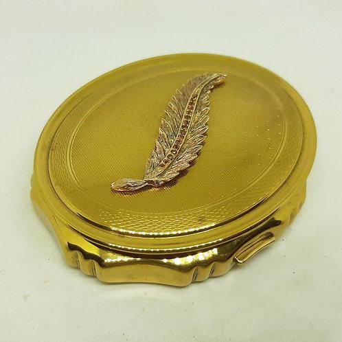 KIGU Concerto Musical Compact Goldtone Crystal Leaf