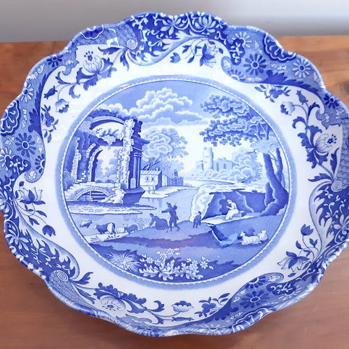 Spode Blue Italian Round Fluted Dish