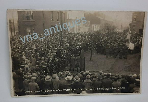 RP Postcard Unveiling of the War Memorial Hexthorpe No3
