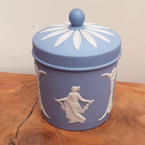 Wedgwood Blue Jasperware Dancing Hours Jar