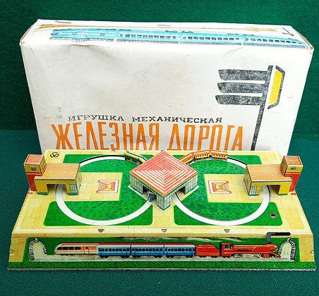 Russian Tin Plate Train Set