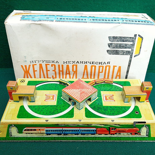 Russian Tin Plate Train Set