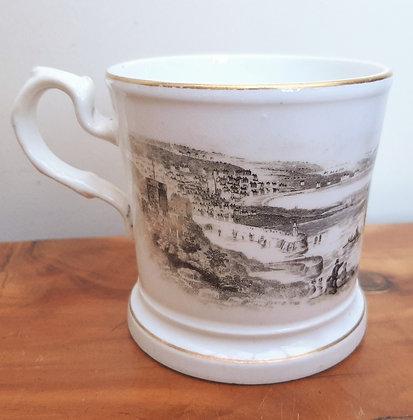 Victorian Souvenir Mug Bat Printed Isle of Man