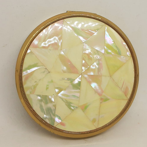 Melissa Mother of Pearl Star Solid/Loose powder  Compact