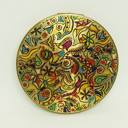 """Vintage Vogue Vanities Compact """"Picasso"""" Abstract Design"""