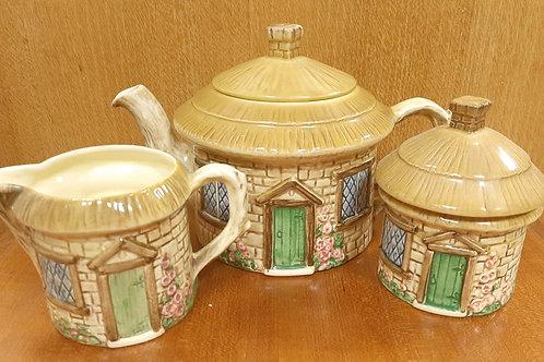 SylvaC Croft Cottage 3pc Tea Set