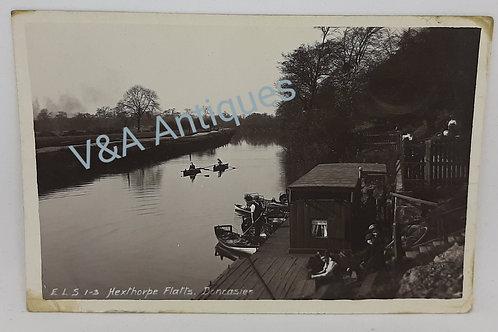 Hexthorpe Flatts Jetty Doncaster RP Postcard ELS