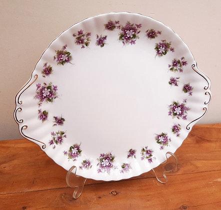 Royal Albert Sweet Violet Handled Cake Plate