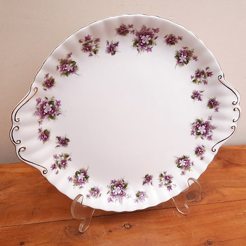 Royal Albert Sweet Violet Handled Cake Plate
