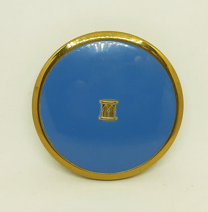 Charbert USA Powder Compact Blue Enamel Drum