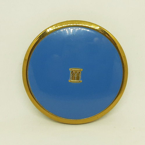 Charbert USA Powder Compact Blue Enamel Drum