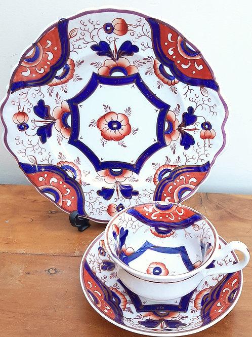 c1822 Hilditch Imari Cups, Saucer & Bread Plate 158