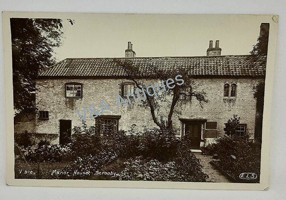 Man House Scrooby RP Postcard ELS Posted 1922