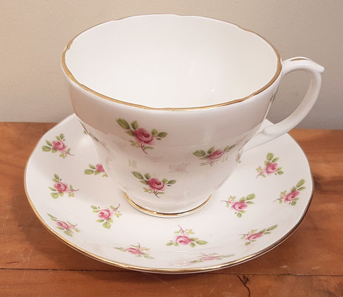 Duchess China Breakfast Cup & Saucer Ditsy Rose