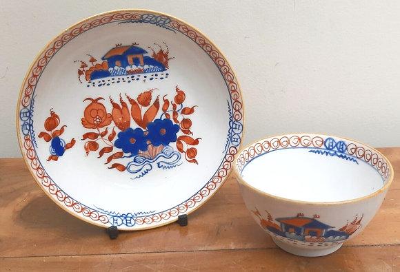 Spode Tea Bowl & Saucer c1804 488 Imari Tea House