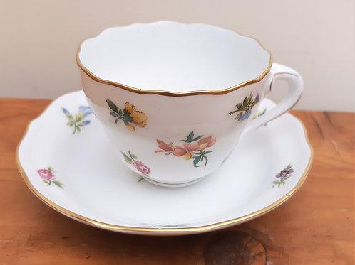 Hutschenreuther Demitasse Coffee Cups & Saucer Mirabell Floral