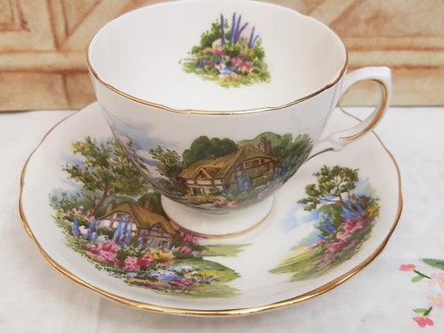 Royal Vale Cups & Saucer Cottage Garden 7382