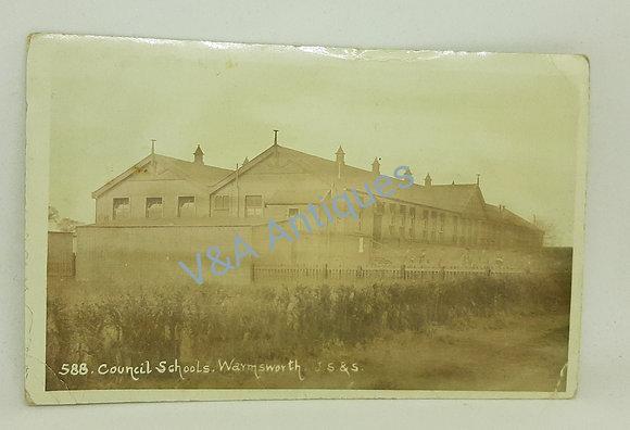 JS&S Council Schools Warmsworth Doncaster Postcard