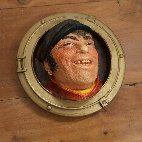 Vintage Legend Chalkware Plaque Porthole Series